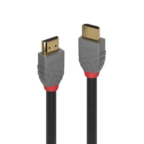 LINDY CAVO HDMI CON TRIPLA SCHERMATURA HIGH SPEED ANTHRA LINE 3MT SUPPORTA RISOLUZIONI UHD