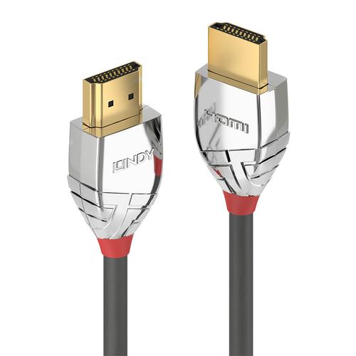 LINDY CAVO HDMI CON TRILPLA SCHERMATURA HIGH SPEED CROMO LINE SUPPORTANO RISOLUZIONI UHD 0,5MT