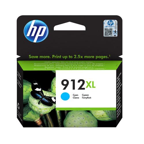 HP CART. INK CIANO N. 912XL PER OFFICEJET 8012, 8013, 8014, 8015, 8022, 8024, 8025, 8035