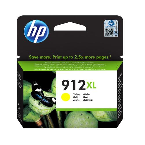 HP CART. INK GIALLO N. 912XL PER OFFICEJET 8012, 8013, 8014, 8015, 8022, 8024, 8025, 8035