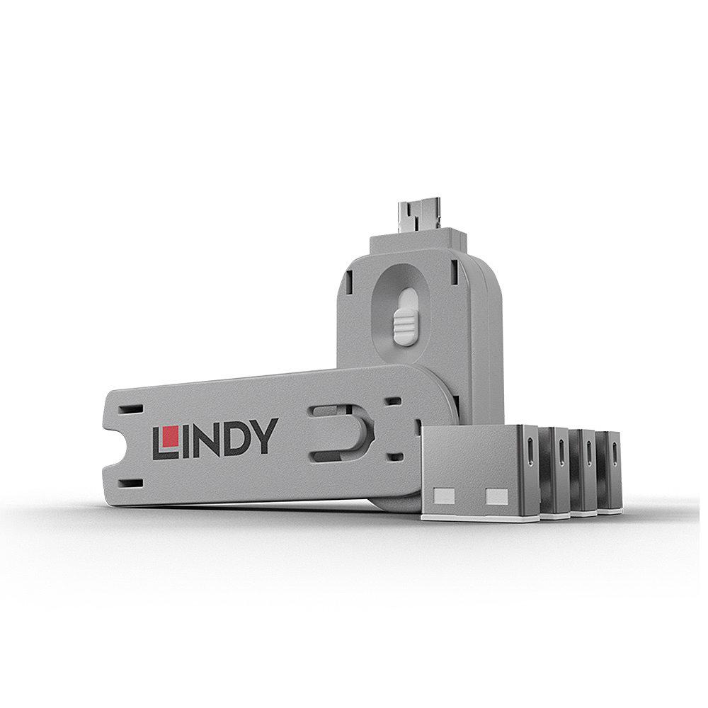 LINDY SERRATURE PER PORTE USB/DISPOSITIVO CHE BLOCCA LACCESSO AL COMPUTER TRAMITE PORTA USB