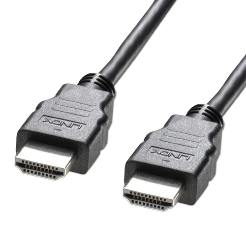 LINDY CAVO HDMI HIGH SPEED, CON ETHERNET, BASIC, M/M, COLORE NERO, 3 MT