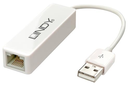 LINDY ADATTATORE CHE CONNETTE UN COMPUTER USB 2.0 AD UNA RETE FAST ETHERNET 10/100
