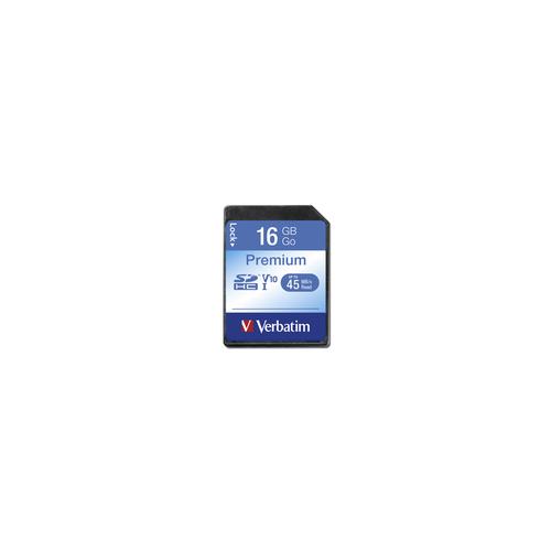 VERBATIM SDHC/HX 16GB CLASSE 10 PREMIUM