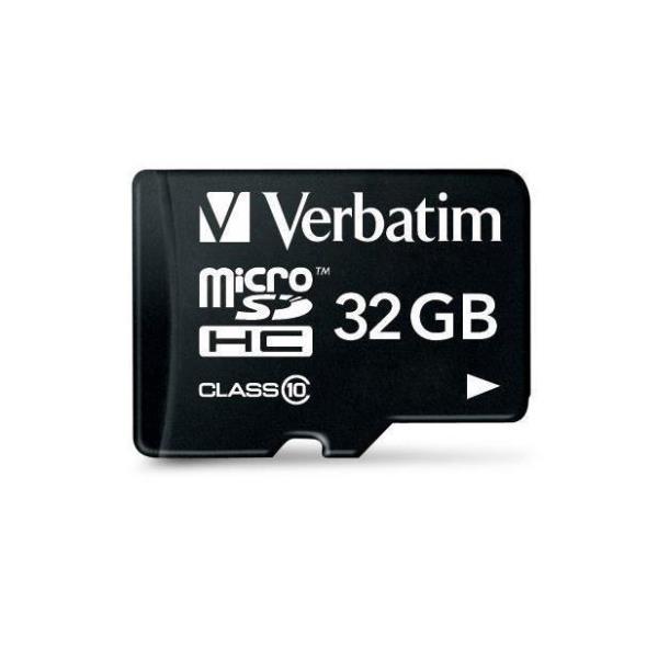 VERBATIM MICRO SDHC 32GB CLASSE 10 + ADATTATORE