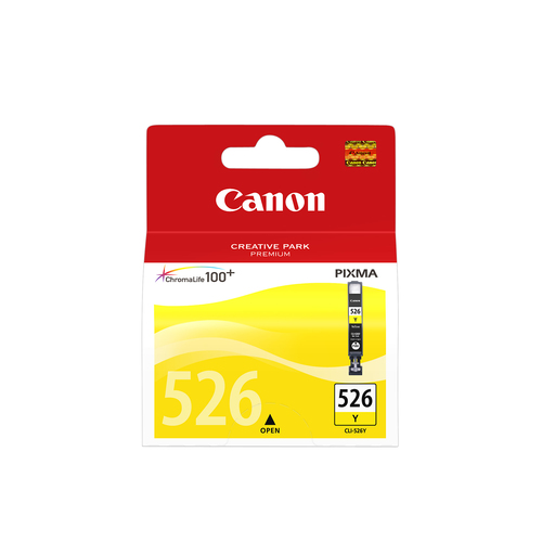 CANON CARTUCCIA CLI-526Y GIALLO 9 ML MG5150/5250/6150/8180 IP4850 4543B001