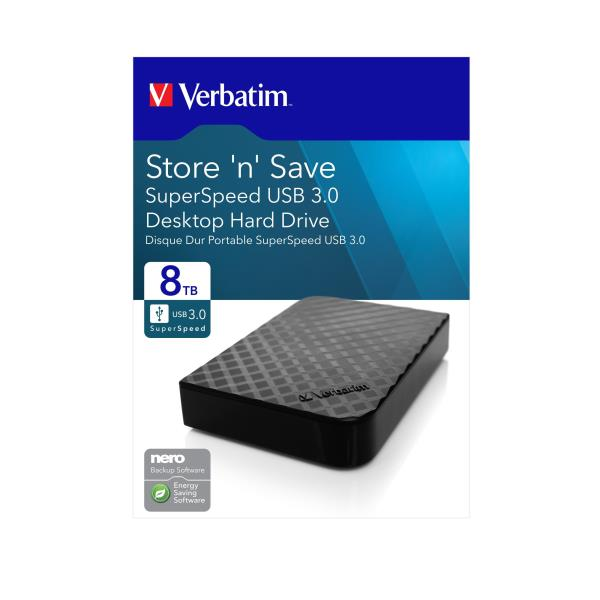 VERBATIM HDD EXT STORE N SAVE 4TB 3,5 USB3.0