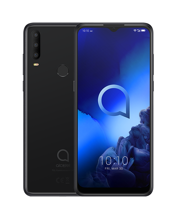 ALCATEL SMARTPHONE 3X 2019 DUAL SIM 6,52 ANDROID 9 PIE 6GB 128GB MICROSD 128GB JEWERLY BLACK