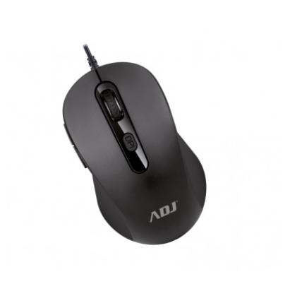 ADJ MOUSE PURE EVO USB MO136, 6 TASTI, 3600 DPI, TECNOLOGIA OTTICA, CONFEZIONE RETAIL, COLORE NERO