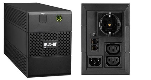 EATON UPS 5E 850I USB DIN 850VA, TOWER, 230 V AC INGRESSO, 230 V AC USCITA - 1 x IEC 60320 C14, 2 x IEC 60320 C13, 1 x SCHUKO