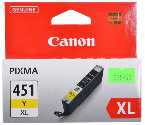 SINOTEX CARTUCCIA CC-451XLY_SIN CANON CLI-451Y PER PIXMA IP 7240/ MG5440/MG6340/MX924 GIALLO