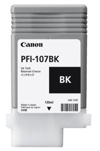 CANON CART. INK NERO PFI-107 PER PLOTTER IPF670/680/685/770/780/785