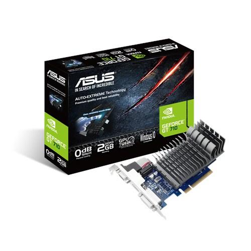 ASUS VGA GF GT710, NVIDIA, 2GB DDR3, VGA, DVI, HDMI, 64BIT