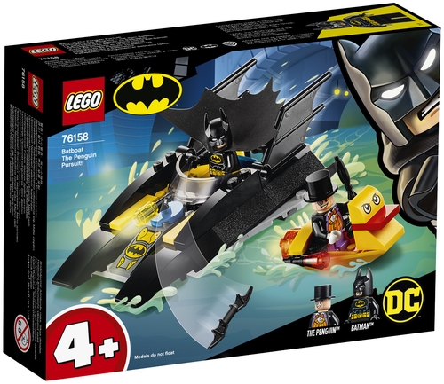 LEGO SUPER HEROES - ALLINSEGUIMENTO DEL PINGUINO CON LA BAT-BARCA