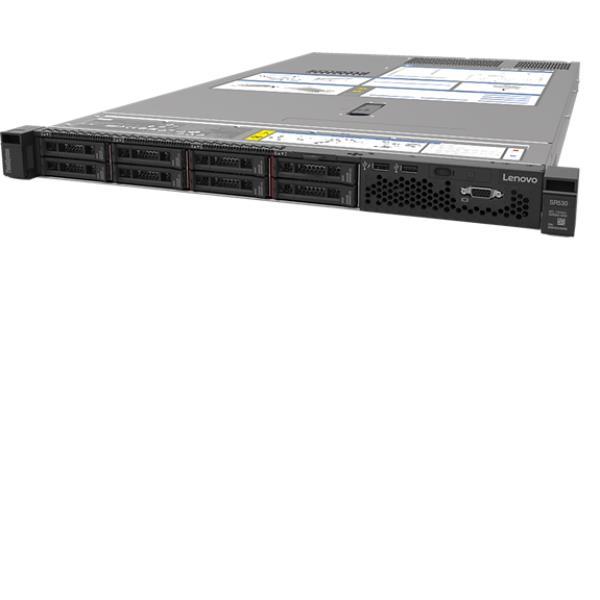 LENOVO SR530 XEON SILVER 4208 (8C 2.1GHZ 11MB CACHE/85W) 16GB 2933MHZ (1X16GB  2RX8 RDIMM)  O/B  530-8I  1X750W  XCC ADVANCED  TOOLESS RAILS