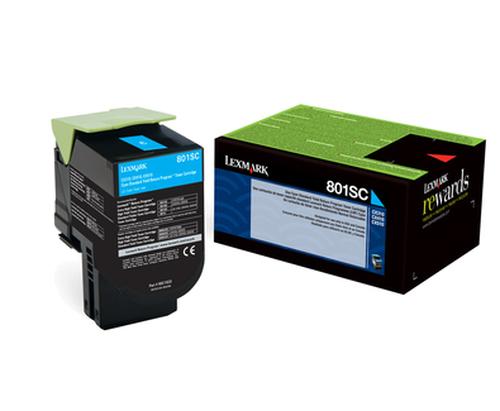 LEXMARK TONER CIANO PER  CX310N/DN CX410E/DE/DTE CX510DE/DHE/DTHE 2000PAG