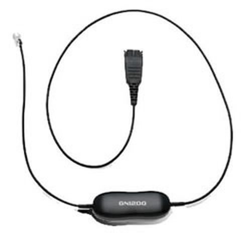 JABRA GN 1200 CAVO DRITTO 0,8 M SMART CORD, QD TO RJ10, STRAIGHT , 0,8      METERS, WITH 8-POSITION SWITCH CONFIGURATOR,
