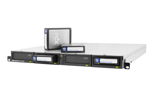 TANDBERG QUIKSTATION RDX, 4-DOCK, 1GBE-ATTACHED REMOVABLE DISK ARRAY, 1U RACKMOUNT