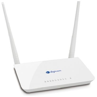 DIGICOM ROUTER ADSL2/2+ 300N 4 PORTE 10/100 2T2R