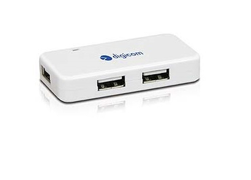 DIGICOM HUB MINI 4 PORTE USB2.0 BIANCO