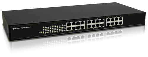 DIGICOM SWITCH 24 PORTE GIGABIT CON KIT PER MONTAGGIO RACK