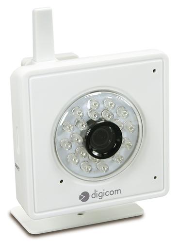 DIGICOM IP CAMERA HD 1MPX WIRELESS USO INTERNO SENSORE IR RISOLUZIONE 1280X720 1 PORTA LAN 10/100 SLOT PER SD CARD