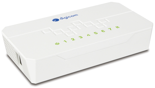 DIGICOM SWITCH 8 PORTE 10/100 COMPATTO BIANCO