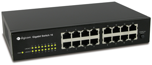 DIGICOM SWITCH 16 PORTE GIGABIT