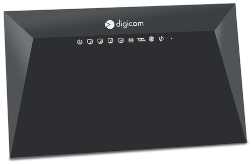DIGICOM ROUTER VDSL/ADSL N300 1XUSB2.0 FUNZIONI SERVER/DNLA 4XLAN 10/100 TASTO ON/OFF WIRELESS E WPS
