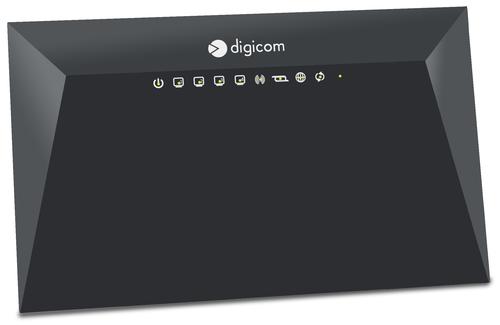 DIGICOM ROUTER VDSL/ADSL N300 1XUSB2.0 FUNZIONI SERVER/DNLA 4XLAN 10/100 TASTO ON/OFF WIRELESS E WPS