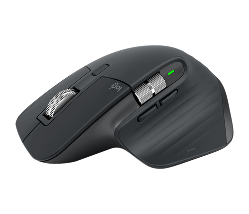 LOGITECH MOUSE WIRELESS BLUETOOTH MX MASTER 3, USB-C, COLORE GRAFITE