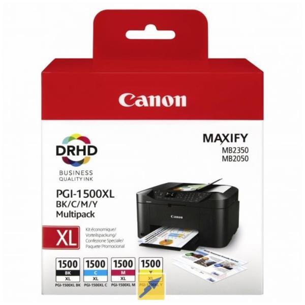 CANON CART.INK MULTICOLOR (BK + C + Y + M) PGI-1500 PER MAXIFY