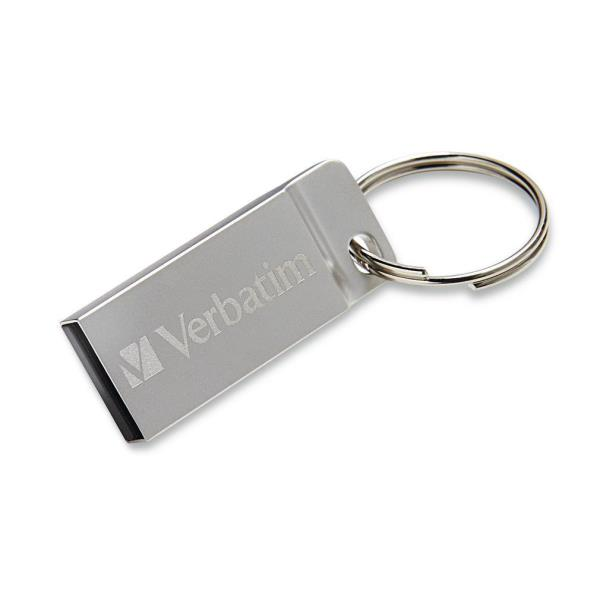 VERBATIM PEN DISK 16GB USB2.0 METAL EXECUTIVE DRIVE SILVER