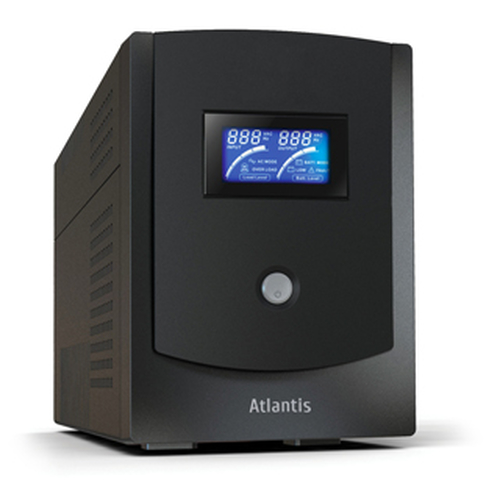 ATLANTIS UPS A03-HP2202 2200VA/1100W SINEWAVE UPS+STABILIZ+FILTRI SW SHUTDOWN PC VIA USB/RS232-DOPPIA BATTERIA