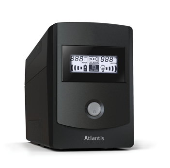 ATLANTIS UPS A03-HP851 850VA/480W SINEWAVE UPS+STABILIZ+FILTRI SW DI CONTROLLO INCLUSO- BATT. 12V