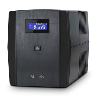 ATLANTIS UPS A03-S1200 ONEPOWER 1200 SERVER UPS 1200VA (700W) STEPWARE LINE ITNERACTIVE, USB, 3 PRESE IEC + 2 SHUKO