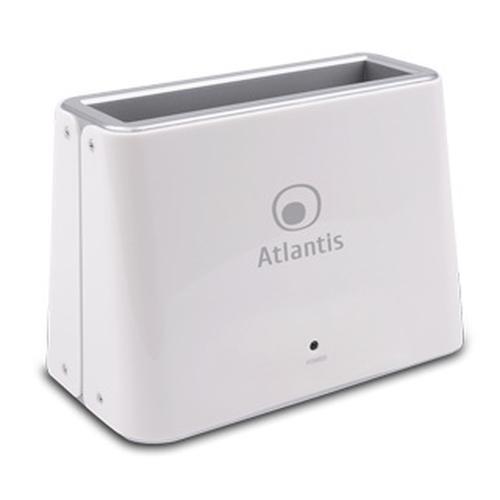 ATLANTIS DOCKING STATION DK42 PROFESSIONAL USB3.0 PER HDD SATA DA 2,5/3,5 BIANCO