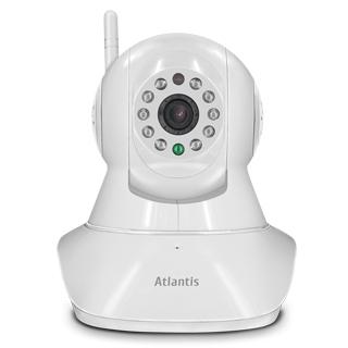 ATLANTIS TELECAMERA IP PLUSCAM HD MOTOR 7000 1280X720 25FPS PTZ CONTROLLO VIA APP WIRELSS MICROFONO SPEAKER SLOT SD