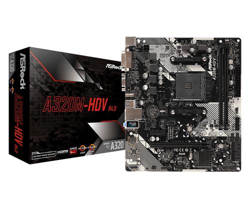 ASROCK MB AMD A320M-HDV R4.0 2DDR4 PCI-E X16 M2 DVI/HDMI MATX
