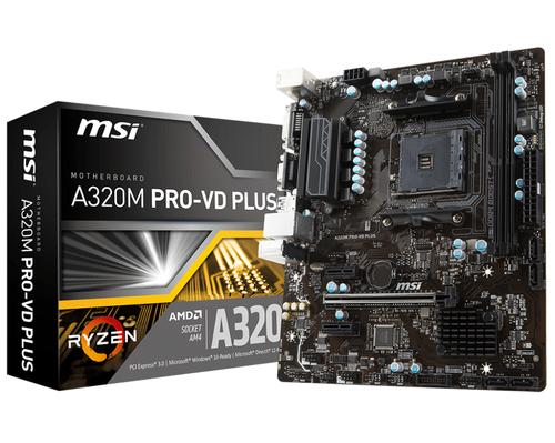 MSI MB A320M PRO-VD PLUS MATX AM4 DDR4 SATA3 VGA DP PRO SERIES