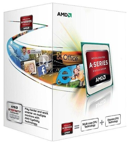 AMD CPU APU A4-4000 3,20GHZ FM2 HD7480D 1MB CACHE 65W COOLER