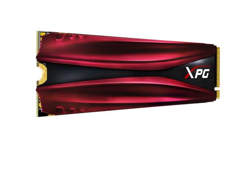 ADATA SSD GAMING XPG GAMMIX S11 PRO 512GB M.2 2280 PCIE GEN3X4 3D NAND FLASH 2ND GEN NVME 1.3 R/W 3500/3000 MB/S BLACK/RED HEATSINK