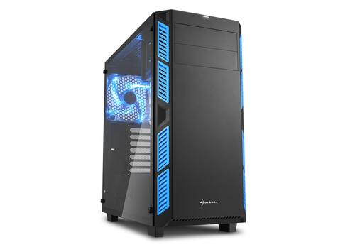 SHARKOON CASE AI7000 ATX 2XUSB2, 2XUSB3, 7 SLOTS, 2X140 FRONT, 1X140 LED REAR WINDOW VETRO TEMPERATO, BLUE