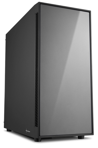 SHARKOON CASE AM5 SILENT ATX 2XUSB2, 2XUSB3, 7 SLOTS, 2X140 FRONT, 1X140 REAR, TITANIUM