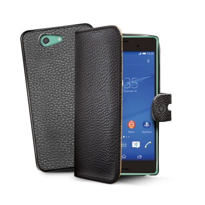 CELLY BK PU WALLET CASE XPERIA Z3 COMPACT 8021735105923 AMBO436BK 14_AMBO436BK