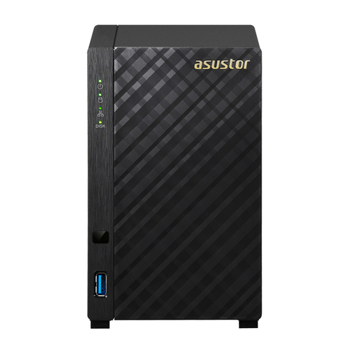 ASUSTOR NAS 2 BAY 2XSATA3 6Gb/s, 3.5 HDD, DUAL CORE 1.6GHZ, RAM 512MB DDR3, 1XGBE LAN, USB 3.1 GEN-1, CRITTOGRAFIA HARDWARE, EZ CONNECT, EZ SYNC