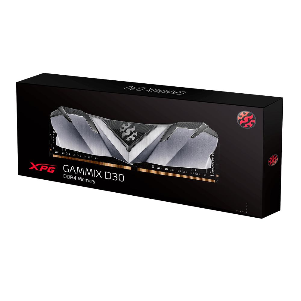 ADATA RAM GAMING XPG GAMMIX D30 8GB (1X8GB) 3200MHZ DDR4 CL16-20-20 BLACK