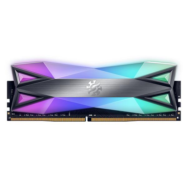 ADATA RAM GAMING XPG SPECTRIX D60G 8GB(2x8GB) DDR4 3600MHZ RGB, CL18-22-22, TUNGSTEN GREY