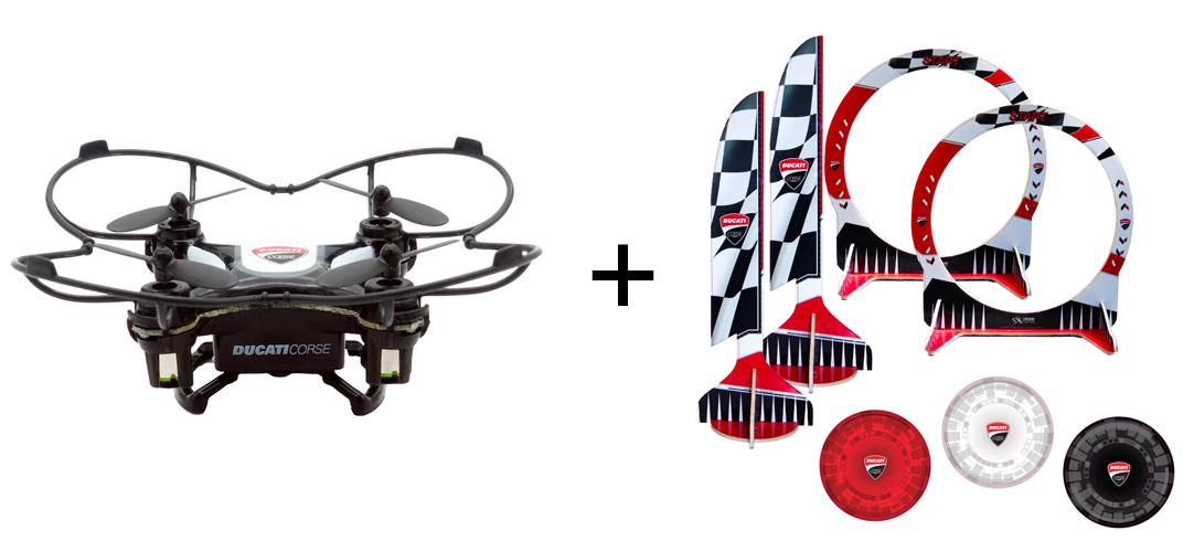 BUNDLE DROMOCOPTER DRONE DUCATICORSE +  PISTA INDOOR
