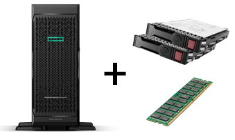 BUNDLE HPE SERVER TOWER ML350 + RAM 16GB + 2X HDD 1TB SATA 3,5